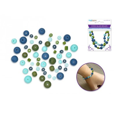 Perles en verre teintées  - Océan