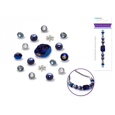 Perles en druse - Saphir (celle du centre carrée)