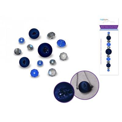 Perles en druse - Saphir (celle du centre ronde)
