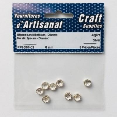 Séparateurs métalliques diamants - Argenté