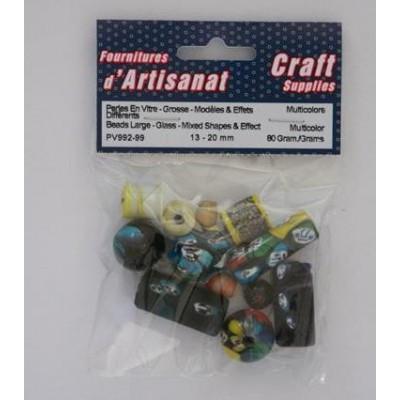 Perles en verres - Multicolores