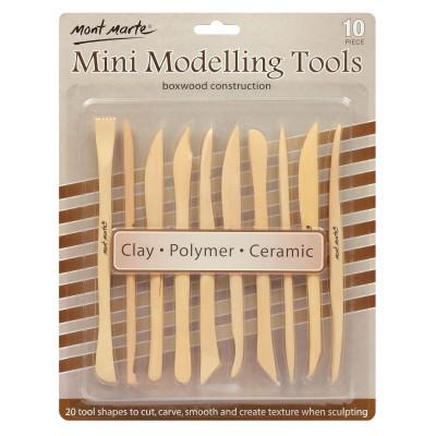 Boîte d'outils en bois pour modelage