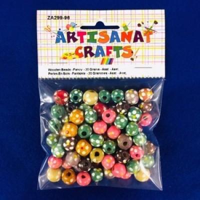 Perles en bois fantaisies - Multicolores