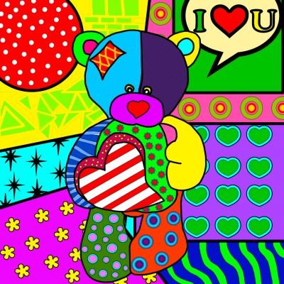 Ourson pop art
