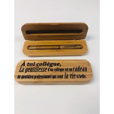 Boîtier avec stylo - Pour Collègue de Travail