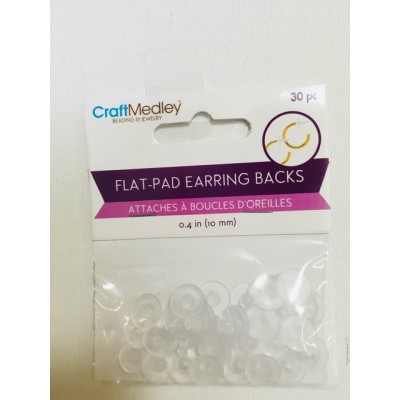 Attaches à boucles d'oreilles - Blanches