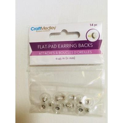 Attaches à boucles d'oreilles - Transparente