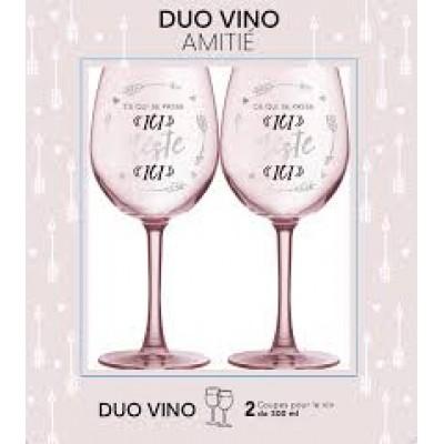 Ensemble verre de vin - Amitié