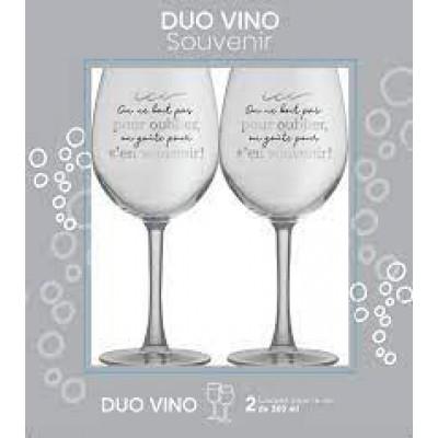 Ensemble verre de vin - Souvenir