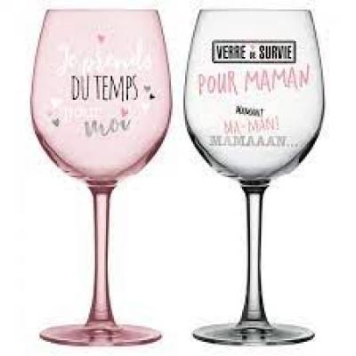 Ensemble verre de vin -  Survie Maman