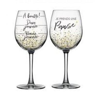 Ensemble verre de vin - Pause bien méritée