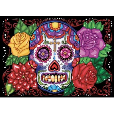 Crâne en fleurs