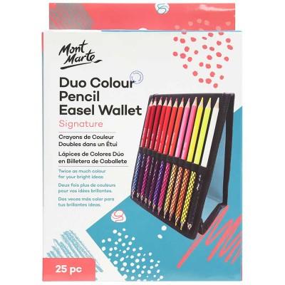 Ensemble de crayons couleurs à double extrémité en bois