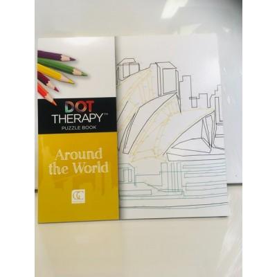Art Thérapie à points numérotés -  Autour du Monde