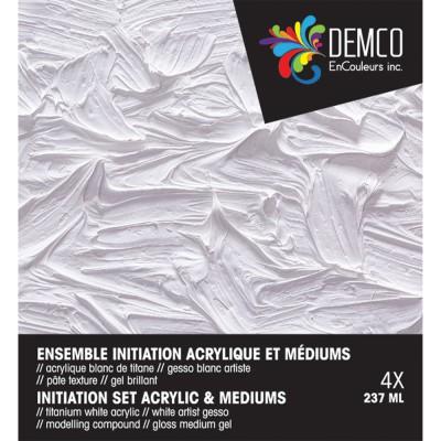 Ens. initiation acrylique et médiums