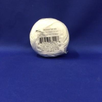 Corde polyester coton,  3 brins, 1mm - Blanc (100 mètres)