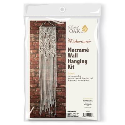 Ens. de macramé - Feuilles et Branches / Suspendre au mur