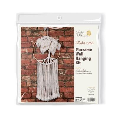 Ens. de macramé -  Palmiers / Suspendre au mur