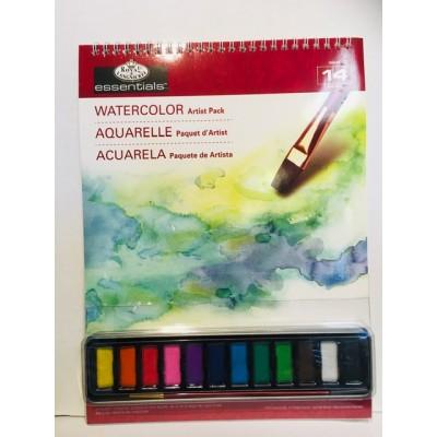 Ensemble 12 pastilles couleurs assorties - Aquarelle