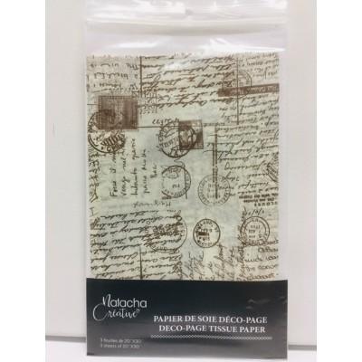 Papier de soie - Carte postal
