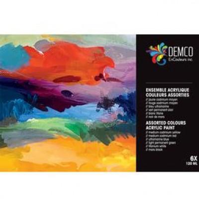 Ens. acrylique couleurs primaires