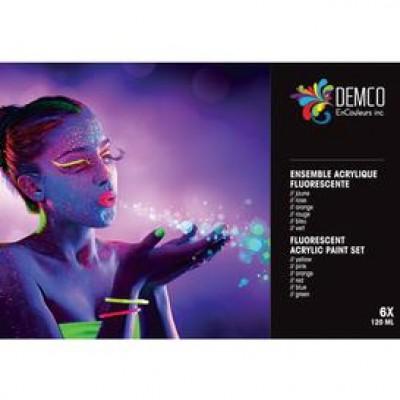 Ens. acrylique couleurs fluorescentes