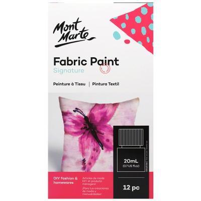 Ensemble de peinture pour tissu (12mcx X  20ml)