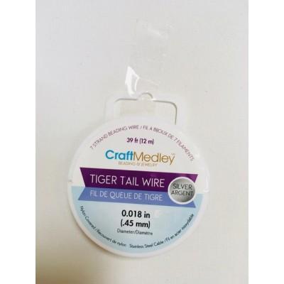 Fil de queue de tigre - Argent