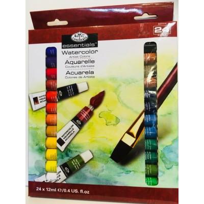 Ensemble 24 tubes  couleurs assorties - Aquarelle
